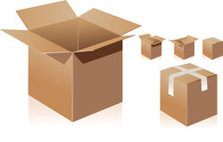 Carton boxes 01 Stock Images