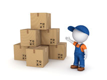 Carton boxes. Stock Photos