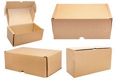 Carton boxes set.Isolated. Stock Images
