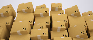 Carton boxes stacking Royalty Free Stock Photography