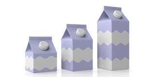 Carton boxes on white. 3d illustration. Carton boxes on white background. 3d illustration Stock Images