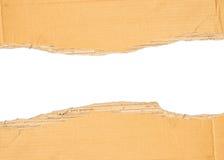 Carton déchiré par Brown Images libres de droits