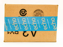 Carton d'expédition d'Amazone Photos stock