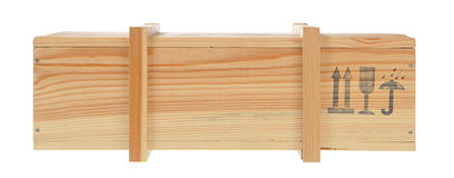 Carton d'expédition en bois d'isolement Photographie stock
