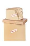 carton de cadre endommagé Image stock
