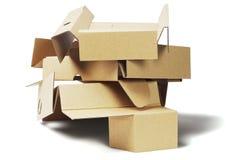 Carton de empaquetage jeté pour la réutilisation Image stock