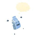 carton de lait de bande dessinée Image stock