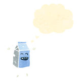 carton de lait de bande dessinée Images stock