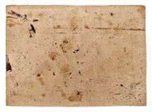 Carton de papier texturisé utilisé d'isolement sur le blanc Objec d'album image stock