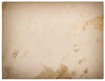 Carton de papier texturisé utilisé d'isolement sur le blanc Rétro type Photographie stock libre de droits