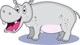 Carton drôle d'hippopotame Photographie stock libre de droits