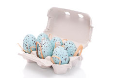 Carton Of Easter Eggs Royalty Free Stock Image