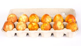 Carton of Easter Eggs Royalty Free Stock Images