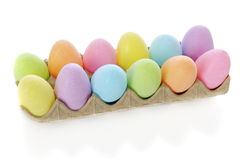 Carton of Easter Eggs Royalty Free Stock Photos
