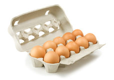 Carton of eggs Stock Photography