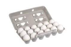 Carton of eggs Royalty Free Stock Images