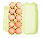 Carton of eggs, isolated Stock Photography
