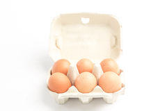 Carton of eggs Stock Photos