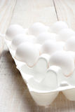 Carton of Eggs on White Royalty Free Stock Images