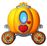 Carton fairy tale element - golden pumpkin carriage Royalty Free Stock Photography