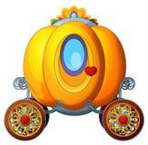 Carton fairy tale element - golden pumpkin carriage Royalty Free Stock Photos