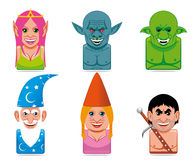 Carton fantasy characters icons Royalty Free Stock Photography