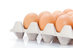 Carton of fresh eggs Royalty Free Stock Image