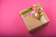 Carton gift box Stock Photo