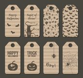 Carton halloween label tag set. Vector illustration Royalty Free Stock Images