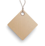 Carton Hanging Quadratic Price Sticker. Cardboard hanging price sticker on the white background Royalty Free Stock Images