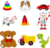 Carton Kid's toy collection Royalty Free Stock Image