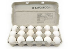 Carton of large eggs Stock Photo