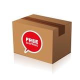 Carton libre d'expédition Photographie stock libre de droits
