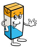 Carton of milk character. Cartoon Illustration of Carton of Milk or Juice Food Object Character Royalty Free Stock Images