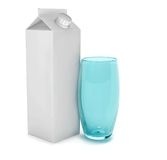 Carton of milk and a glass Royalty Free Stock Photos