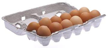 Carton Of Brown Eggs Royalty Free Stock Photo