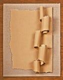 Carton ondulé Photo libre de droits