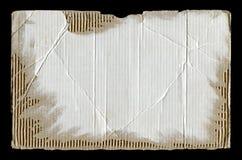 Carton ondulé déchiré blanc Photographie stock libre de droits