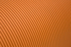 Carton ondulé orange Photos libres de droits