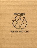 Carton ondulé recyclable Image stock