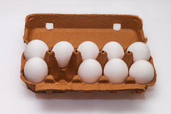 A carton without one egg Royalty Free Stock Photo