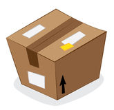 Carton package Royalty Free Stock Photography