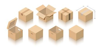 Carton packs collection. royalty free illustration