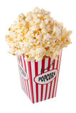 Carton of popcorn Royalty Free Stock Photos