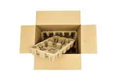 Carton and pulp tray Stock Image