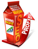 Carton SEO missing profit Stock Photography