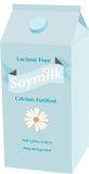 Light Blue Carton of Soy Milk Stock Photography
