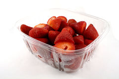 Carton of Strawberries Stock Images