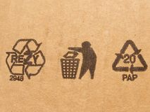 Carton symbols Stock Photography