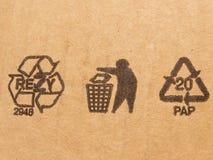 Carton symbols Stock Photography
